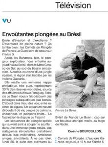 carnets de plongée sur France5