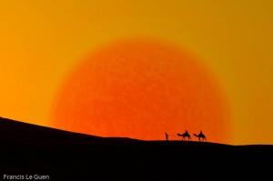 Dans les dunes de Merzouga Maroc Marmara Sahara
