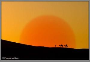 Maroc, Marmara, Merzouga, voyage au Maroc, dunes, soleil, lune, désert, photoshop