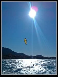Saint Valentin, kite surf, Marseille, été