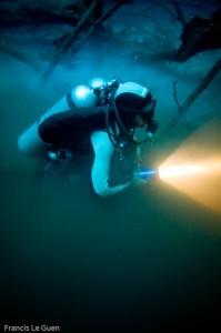 Cenote Angelita - mélange des eaux