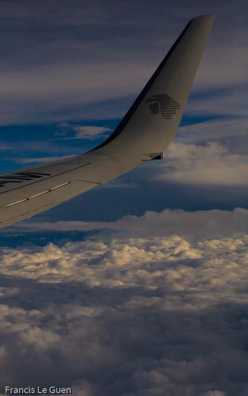 Au dessus de l'Atlantique