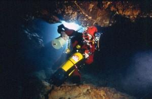 grotte de la mescla plongée souterraine Francis Le Guen palier oxygène