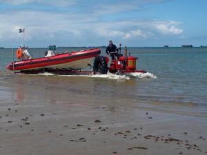 Arromanches plongée tracteur