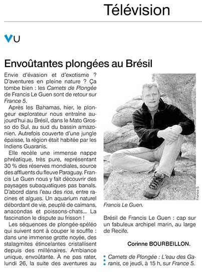 Carnets de Plongée sur France 5