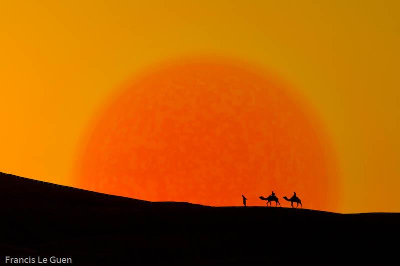 Dans les dunes de Merzouga au Maroc