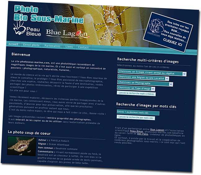Bio : nouveau site de photo sous-marine