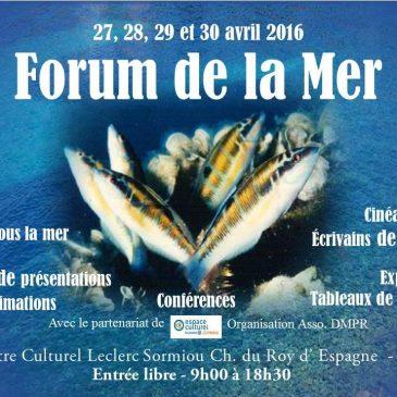 Forum de la mer de Marseille : conférences et dédicaces