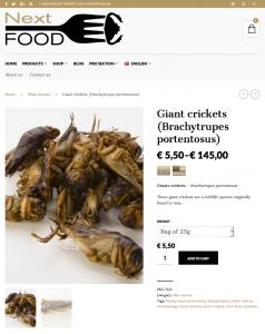 Next-Food insectes comestibles boutique